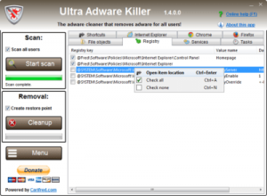 Ultra Adware Killer 9.7.7.0 Crack
